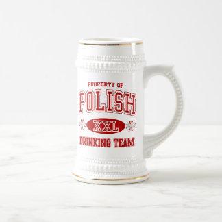 ポーランドの飲むチーム ビールジョッキ