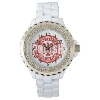 ポーランドの飲むチーム 腕時計