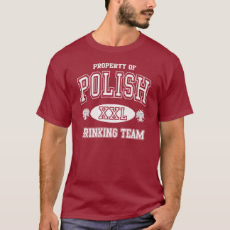 ポーランドの飲むチーム Tシャツ
