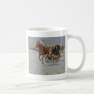 ポーランドの馬が引くそり コーヒーマグカップ