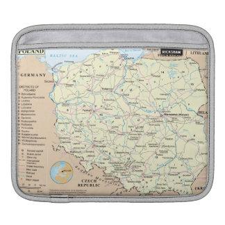 ポーランドのiPadの人力車の袖の地図 iPadスリーブ