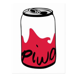 ポーランドビール(Piwo) ポストカード