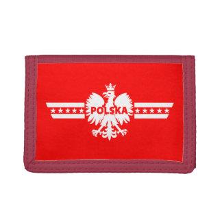 ポーランドポルスカのワシの記号のナイロン財布 ナイロン三つ折りウォレット