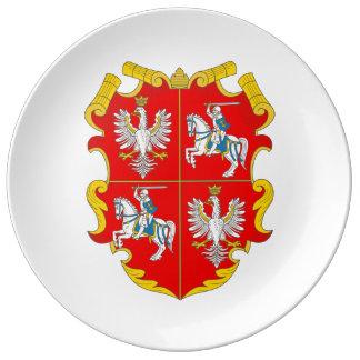 ポーランドリスアニア連邦(バラの上昇) 磁器プレート