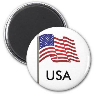 ポーランド人の磁石の米国の旗 マグネット