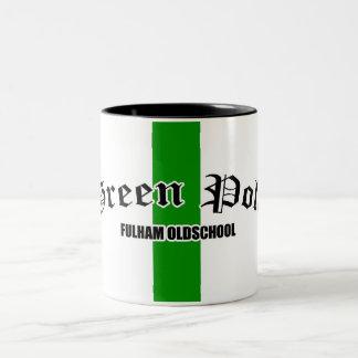 ポーランド人緑のFulhamのマグ ツートーンマグカップ