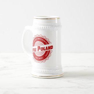 ポーランド少しビールステイン ビールジョッキ
