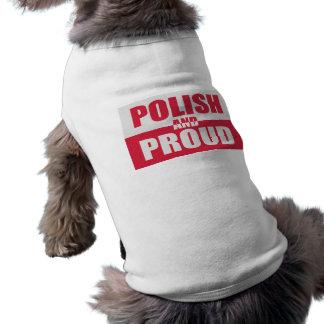 ポーランド語および誇りを持った ペット服