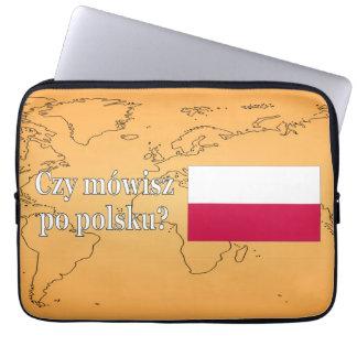 ポーランド語を話しますか。 ポーランド語。 旗のwf ラップトップスリーブ
