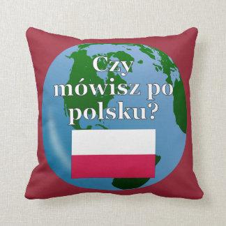 ポーランド語を話しますか。 ポーランド語。 旗及び地球 クッション