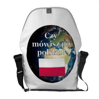 ポーランド語を話しますか。 ポーランド語。 旗及び地球 クーリエバッグ