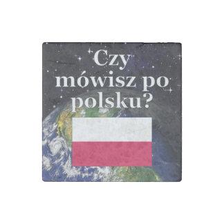 ポーランド語を話しますか。 ポーランド語。 旗及び地球 ストーンマグネット
