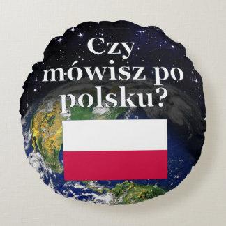 ポーランド語を話しますか。 ポーランド語。 旗及び地球 ラウンドクッション