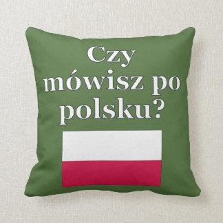 ポーランド語を話しますか。 ポーランド語。 旗 クッション