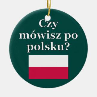 ポーランド語を話しますか。 ポーランド語。 旗 セラミックオーナメント