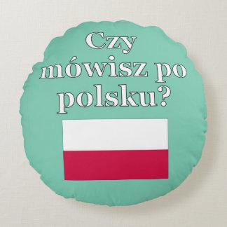 ポーランド語を話しますか。 ポーランド語。 旗 ラウンドクッション