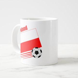 ポーランド-サッカーチーム ジャンボコーヒーマグカップ