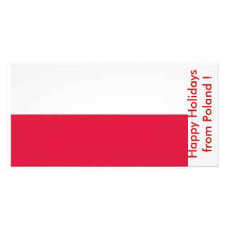 ポーランド、ポーランドからの幸せな休日の旗 カード