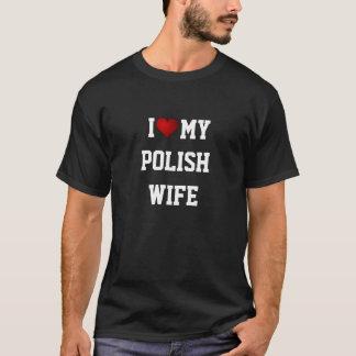 ポーランド: 私は私のポーランドの妻を愛します Tシャツ