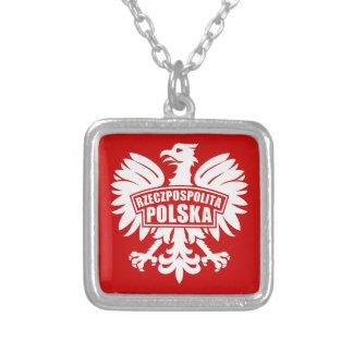"""ポーランド""""Rzeczpospolitaポルスカ""""のワシの記号 シルバープレートネックレス"""