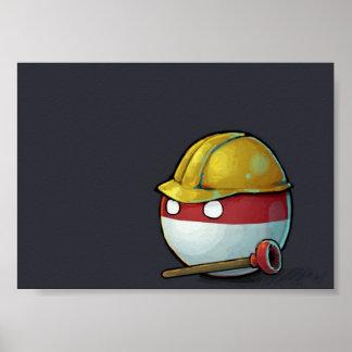 ポーランドCountryball ポスター