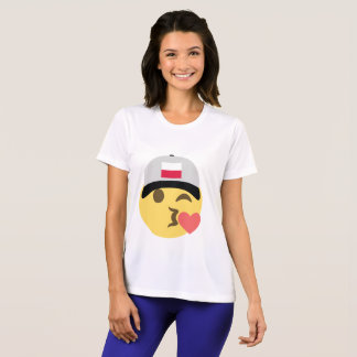 ポーランドEmojiの野球帽 Tシャツ