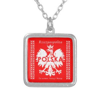 ポーランドRzeczpospolitaポルスカのポーランドのワシの紋章 シルバープレートネックレス