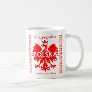 ポーランドRzeczpospolitaポルスカのポーランドのワシ コーヒーマグカップ