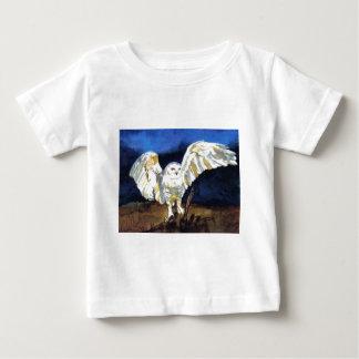 ポーラAtwell著Snowyのフクロウ ベビーTシャツ