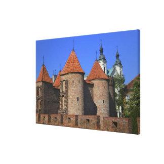 ポーリーン外堡および教会、ワルシャワ、 キャンバスプリント