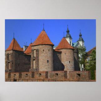 ポーリーン外堡および教会、ワルシャワ、 ポスター