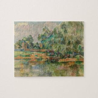 ポールセザンヌのパズルによる川岸 ジグソーパズル