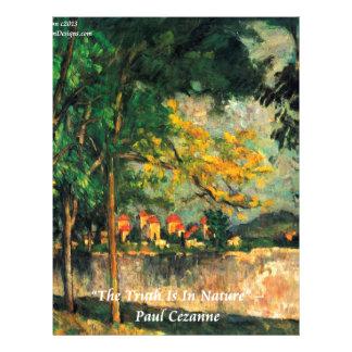 ポールセザンヌの自然の絵を描くこと及び引用文 レターヘッド