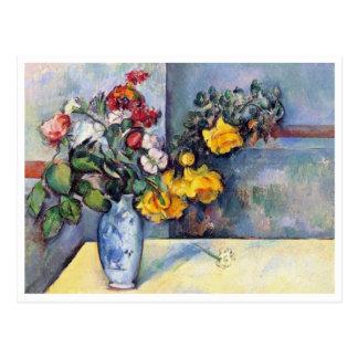 ポールセザンヌ著つぼの静物画の花 ポストカード