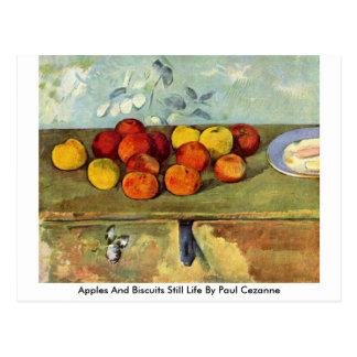 ポールセザンヌ著りんごおよびビスケットの静物画 ポストカード