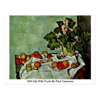 ポールセザンヌ著フルーツが付いている静物画 ポストカード