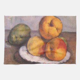 ポールセザンヌ著マルメロ、りんごおよびナシ キッチンタオル