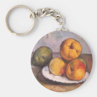 ポールセザンヌ著マルメロ、りんごおよびナシ キーホルダー