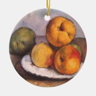 ポールセザンヌ著マルメロ、りんごおよびナシ セラミックオーナメント