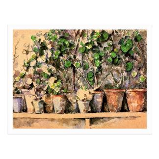 ポールセザンヌ著植木鉢 ポストカード