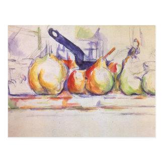ポールセザンヌ著鍋が付いている静物画 ポストカード