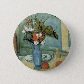ポールセザンヌ著青いつぼ(花およびフルーツ) 5.7CM 丸型バッジ