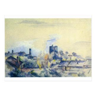 ポールセザンヌ著L'Estaqueの屋根 ポストカード