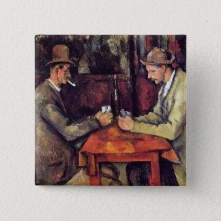 ポールセザンヌ-カードプレーヤーのファインアートの絵画 缶バッジ