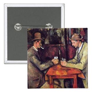 ポールセザンヌ-カードプレーヤーのファインアートの絵画 5.1CM 正方形バッジ