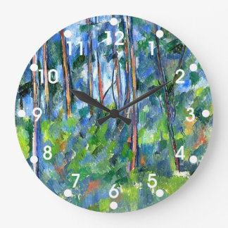 ポールセザンヌ: セザンヌ著絵を描く森では ラージ壁時計