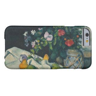 ポールセザンヌ-花およびフルーツが付いている静物画 BARELY THERE iPhone 6 ケース