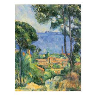 ポールセザンヌ- L'Estaqueおよび館のd'Ifの眺め ポストカード