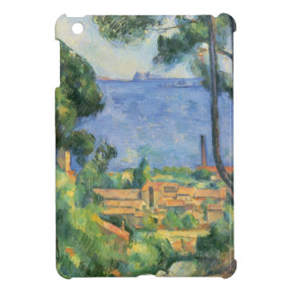ポールセザンヌ- L'Estaqueおよび館のd'Ifの眺め iPad Miniカバー