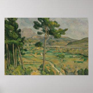 ポールセザンヌ- Mont Sainte-Victoire ポスター